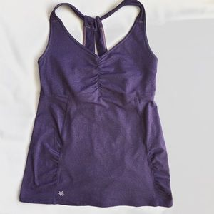 ATHLETA Purple Athletic Tank TOP sz L Yoga